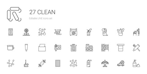 clean icons set
