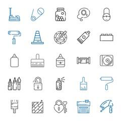 repair icons set