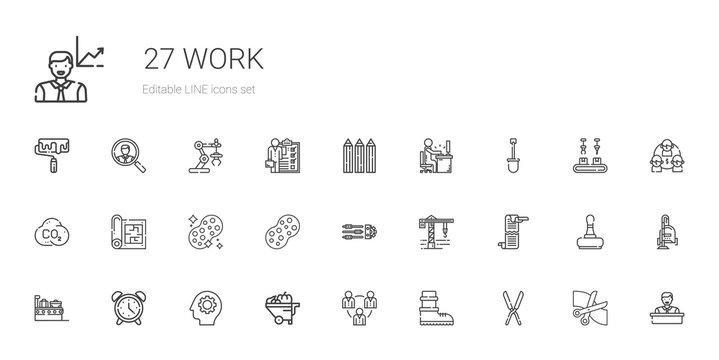work icons set