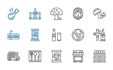 meal icons set