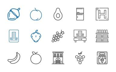eating icons set