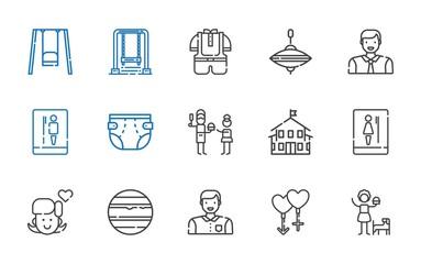 boy icons set