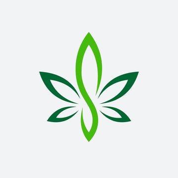 Letter S Cannabis vector