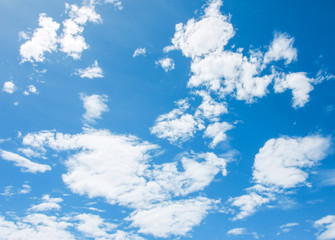 Bright sky, beautiful blue with cloud in the morning