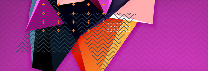 3d triangular vector minimal abstract background design