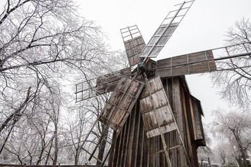 windmill in the winter