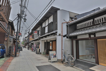 the Traditional houses in Fushimi ku japan