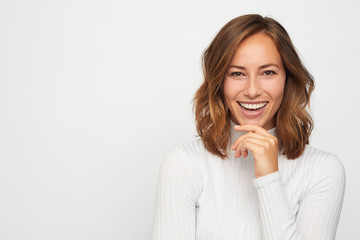 portrait of young happy woman  Wall mural