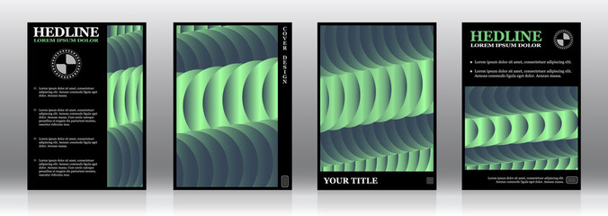 A set of layouts for the design of covers, flyers, brochures, albums, books, notebooks, promotional mailings, forms, reports, etc. Abstract design, vector graphics.