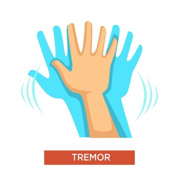 Hand tremor neurological disorder human body part