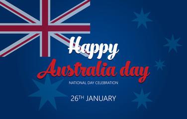 Australia Day. Banner for Australia National Day vector