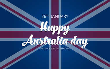 Australia Day. Banner for Australia National Day vector