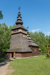 Ukrainian authentic wooden church. Lviv
