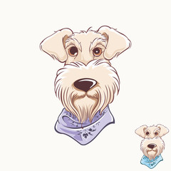 Cute dog icon logo