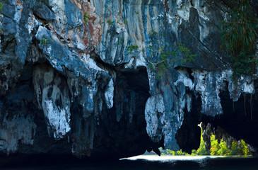 Tam Lod Cave. Phang Nga Bay, Andaman Sea, Thailand, Asia
