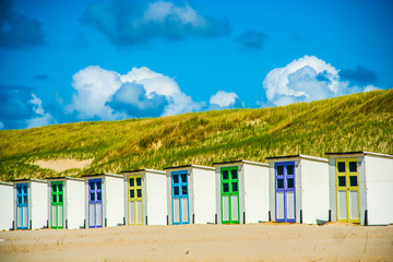 Beachhouses at Texel in the Netherlands