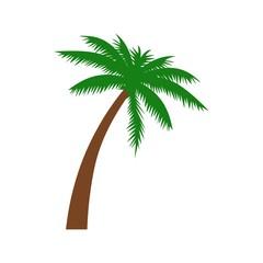 Palm tree icon or logo, island sign