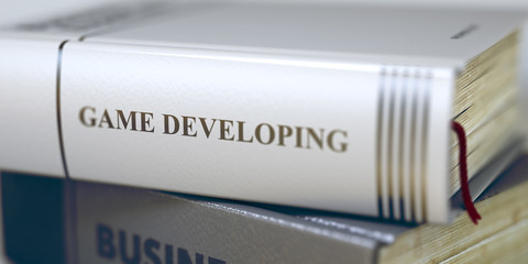 Business Book Title - Game Developing. 3d Rendering.