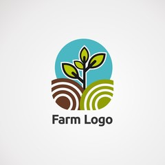 abstract business logo farm , icon, element, and template