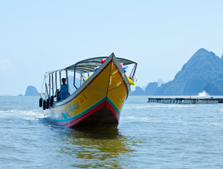 Panyee fishing village. Phang Nga Bay, Andaman Sea, Thailand, Asia