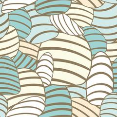 striped pastel egg shapes seamless pattern