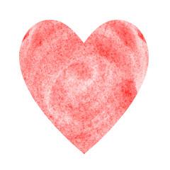 Gemaltes rotes Herz aus Wasserfarbe