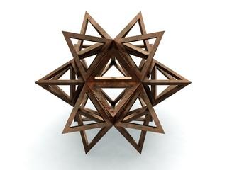Icofaedron epirmenon Cenon, Leonardo da Vinci, Divina Proportione/241. 3D model
