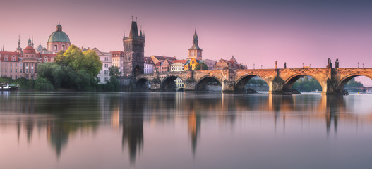 View of Charles bridge Prague, Czech Republic.
