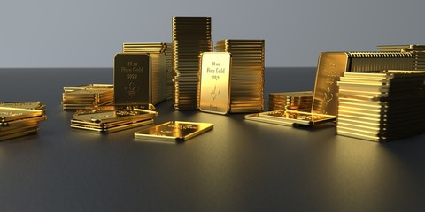 Fototapete - Fine Gold Barren 10 Oz