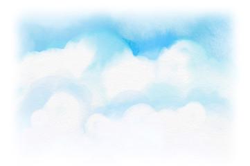 水彩の優しい空