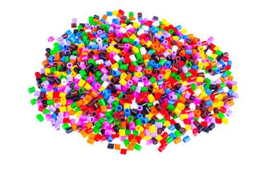 Mix color plastic particles children's mosaic