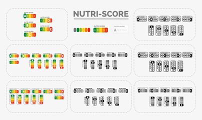 Fototapeta logo nutri-score complet obraz