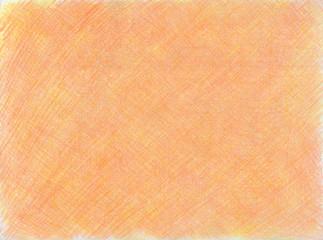 オレンジの色鉛筆のスクラッチ模様の背景素材