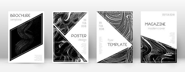 Obraz Cover page design template. Triangle brochure layo - fototapety do salonu