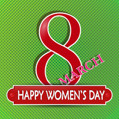 Congratulations on March 8, date and inscription Happy women's day
