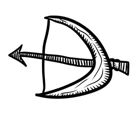 Bow And Arrow Doodle