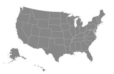 USA map. Vector illustration. Fototapete