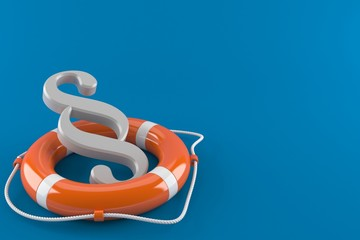Paragraph with life buoy