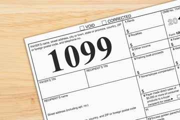 A US Federal tax 1099 income tax form