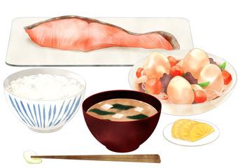 「和食定食イラスト」の画像検索結果
