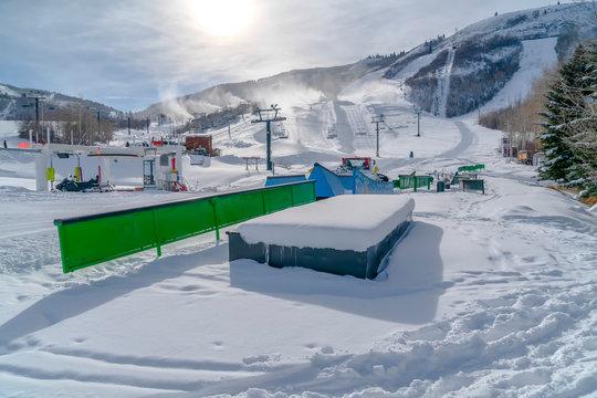 Skiing and snowboarding resort in Park City Utah