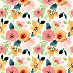 sweet flower watercolor seamless pattern