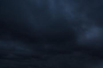 Dark stormy sky. Gloomy clouds. Overcast weather