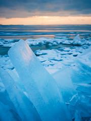Ice on a lake