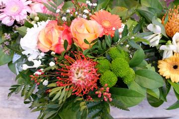 bouquet artisanal du fleuriste
