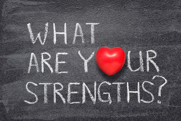 what are your strengths heart Wall mural
