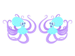 Two funny octopus
