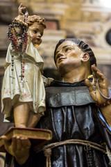 Statua religiosa interni Chiesa del Rosario - Sassari - Sardegna