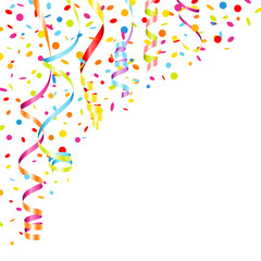 Color Streamers & Confetti Party Background