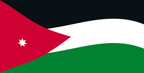 Jordan flag, official colors and proportion correctly. National Jordan flag.